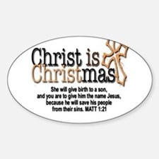 Christ back in Christmas Decal
