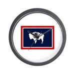 Wyoming State Flag Wall Clock