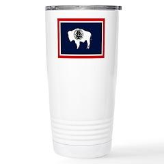 Wyoming State Flag Travel Mug