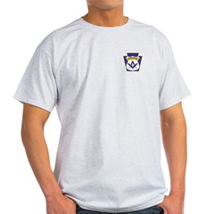 Masonic Police Officers Ash Grey T-Shirt
