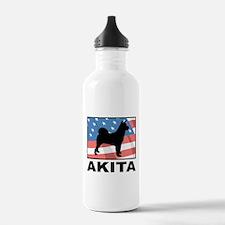 American Akita Water Bottle