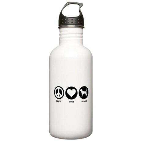 Peace Love Beagle Stainless Water Bottle 1.0L