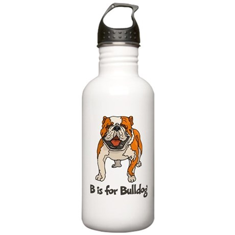 B is for Bulldog Stainless Water Bottle 1.0L