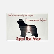 Support Newf Rescue Rectangle Magnet (10 pack)