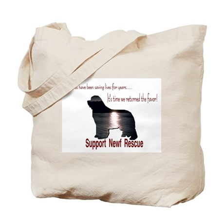 Support Newf Rescue Tote Bag