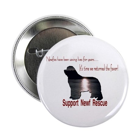 """Support Newf Rescue 2.25"""" Button (10 pack)"""