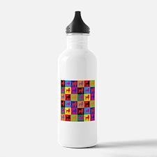 Pop Art Poodle Water Bottle