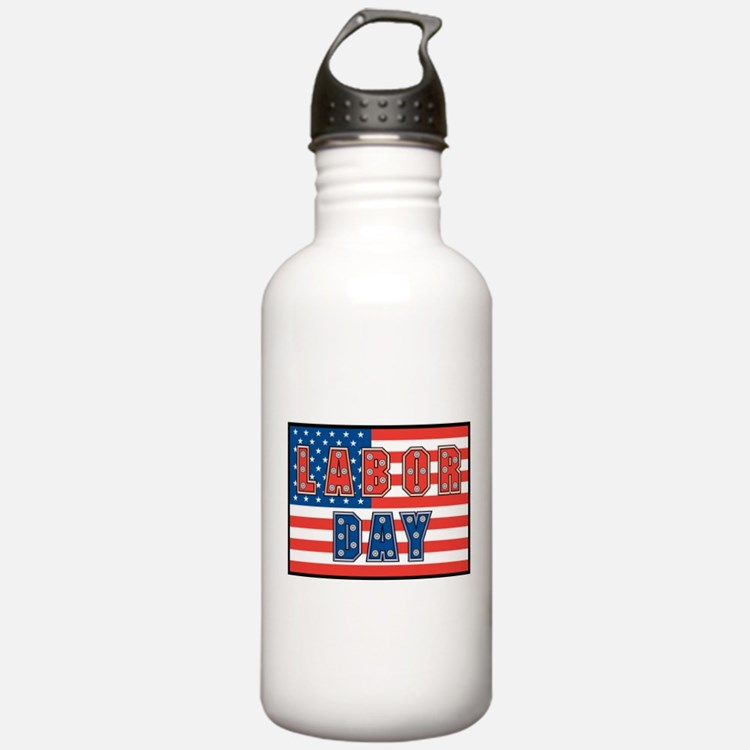 USA Labor Day Water Bottle