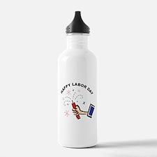 Happy Labor Day Water Bottle