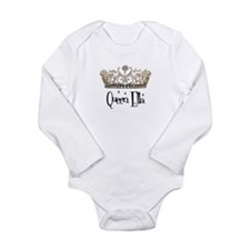Queen Ella Long Sleeve Infant Bodysuit