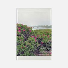 WILD ROSE Rectangle Magnet