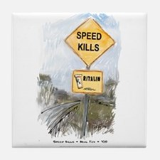 Speed Kills Tile Coaster