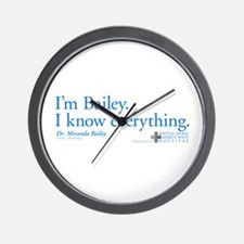 I'm Bailey. I Know Everything Wall Clock