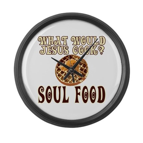 What Would Jesus Cook Large Wall Clock