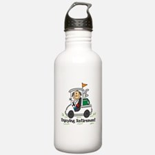 Retired and Golfing Water Bottle