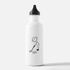 Stick Figure Basketball Water Bottle