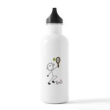 Stick Figure Tennis Water Bottle