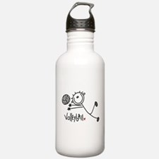 Stick Figure Volleyball Sports Water Bottle