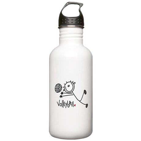 Stick Figure Volleyball Stainless Water Bottle 1.0
