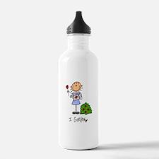 I Garden Stick Figure Water Bottle