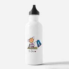 I Sew Stick Figure Water Bottle