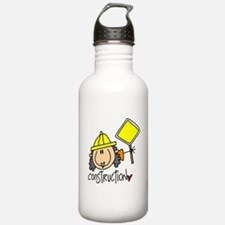 Female Construction Worker Water Bottle