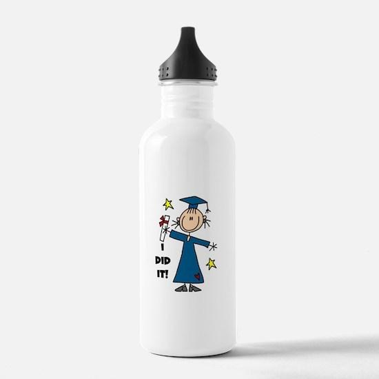 Girl Graduate Water Bottle