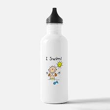 Boy I Swim Water Bottle