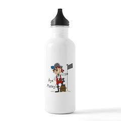 Aye Matey Pirate Water Bottle