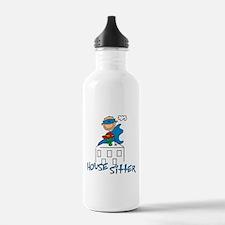 Boy Hero House Sitter Water Bottle