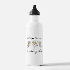I Believe in Angels Water Bottle