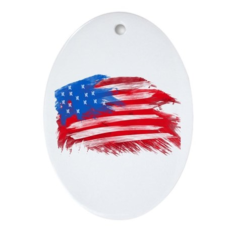 US Flag Ornament (Oval)