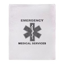 Emergency Medical Services Throw Blanket