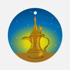 Arabic Coffee Ornament (Round)