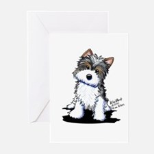 Biewer Yorkie Puppy Greeting Cards (Pk of 20)