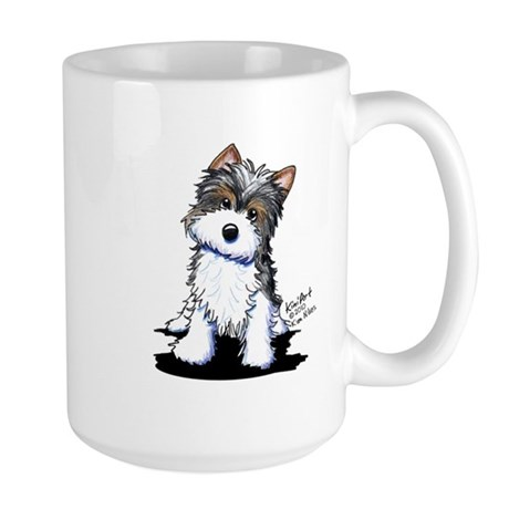 Biewer Yorkie Puppy Large Mug