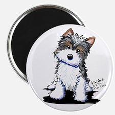 Biewer Yorkie Puppy Magnet