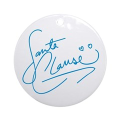 Signed by Santa Ornament (Round)