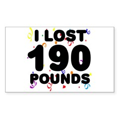 I Lost 190 Pounds! Decal