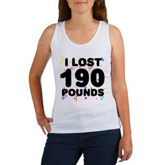 I Lost 190 Pounds! Women's Tank Top