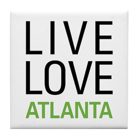 Live Love Atlanta Tile Coaster
