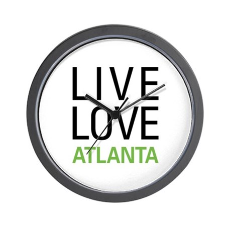 Live Love Atlanta Wall Clock