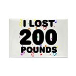 I Lost 200 Pounds! Rectangle Magnet
