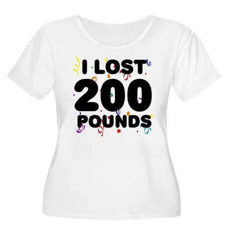 I Lost 200 Pounds! Women's Plus Size Scoop Neck T-