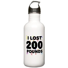 I Lost 200 Pounds! Water Bottle