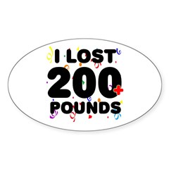 I Lost 200+ Pounds! Decal