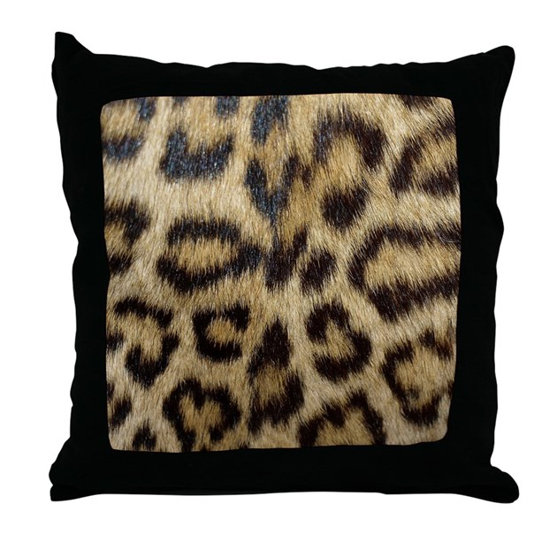 Animal Print Throw Pillows And Blankets : Leopard Print Throw Pillow by expressivemind