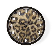 Leopard Print Wall Clock