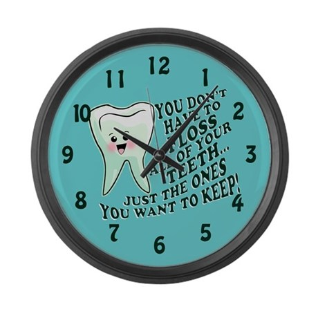 Obey Your Dental Hygienist Large Wall Clock