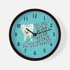 Obey Your Dental Hygienist Wall Clock